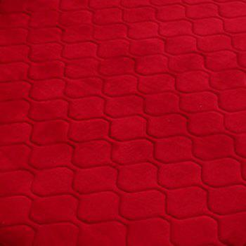 Floor Mat Thicken Coral Fleece Comfy Soft Geometric Pattern Home Mat2 - WINE RED 140X200CM