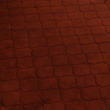 Floor Mat Thicken Coral Fleece Comfy Soft Geometric Pattern Home Mat3 - COFFEE BROWN COFFEE BROWN