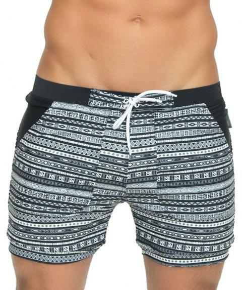 Taddlee Sexy Men's Swimwear Swimsuits Long Basic Traditional Cut Swim Boxer Trunks Surf Board Shorts Bathing Suits - BLACK 2XL