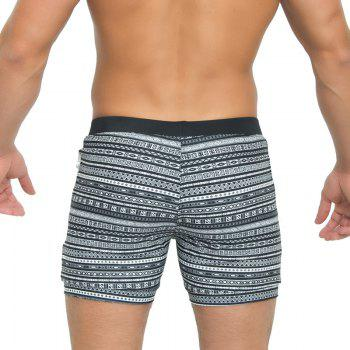 Taddlee Sexy Men's Swimwear Swimsuits Long Basic Traditional Cut Swim Boxer Trunks Surf Board Shorts Bathing Suits - BLACK L