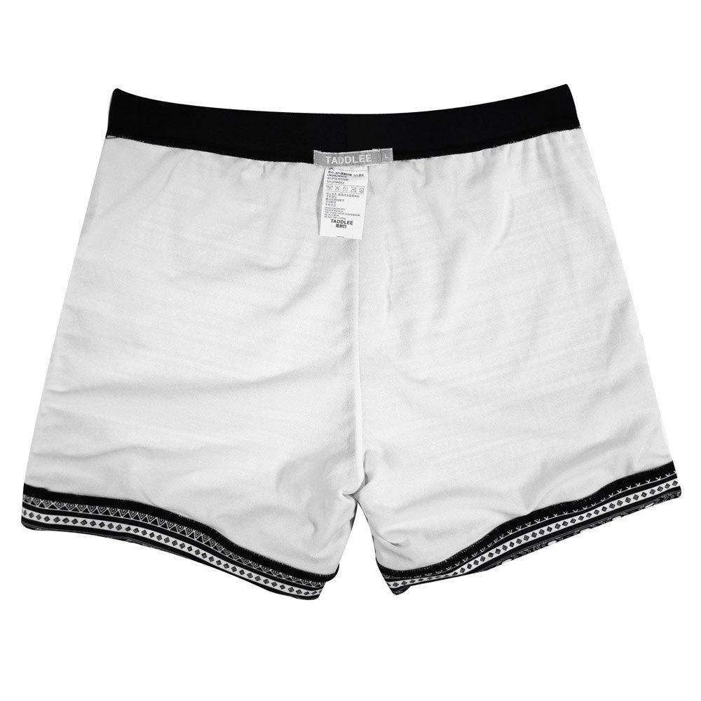 Taddlee Sexy Men's Swimwear Swimsuits Long Basic Traditional Cut Swim Boxer Trunks Surf Board Shorts Bathing Suits - BLACK XL
