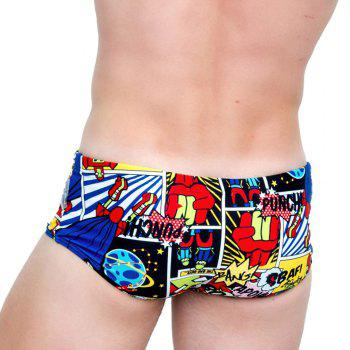 Taddlee Sexy Men Swimwear Swimsuits Swim Boxer Briefs Bikini 3d Printed Men's Board Beach Surfing Shorts Trunks Pouch WJ - RED M