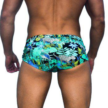 Taddlee New Men's Swimsuits Swimwear Swim Boxer Trunks Man Low Waist Men Swimming Bikini Briefs Gay Surf Boardshorts - GREEN GREEN