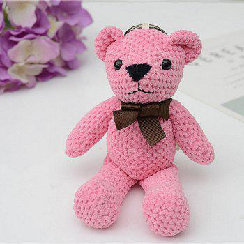 Fashionable Toy Bear Key Chain Bag Accessories - PINK