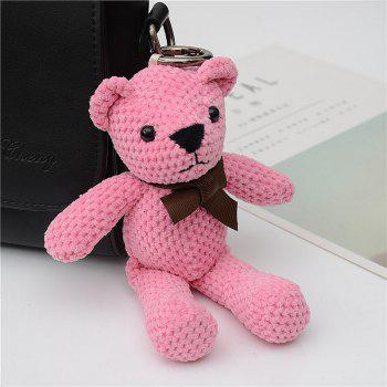 Fashionable Toy Bear Key Chain Bag Accessories - PINK PINK