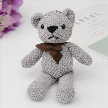 Fashionable Toy Bear Key Chain Bag Accessories - GRAY GRAY