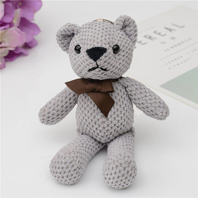 Fashionable Toy Bear Key Chain Bag Accessories - GRAY