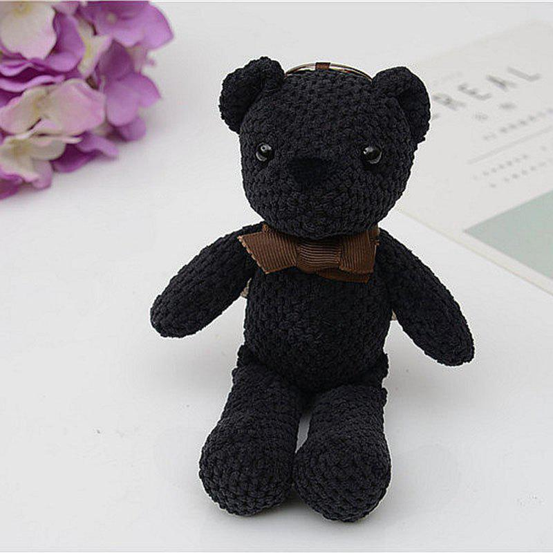Fashionable Toy Bear Key Chain Bag Accessories - BLACK
