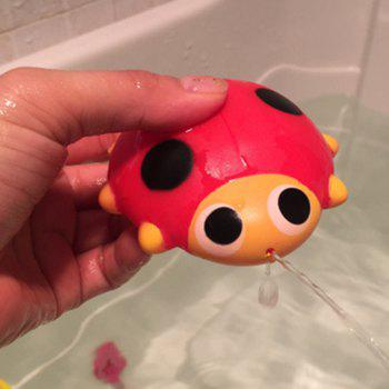 Cute Animals Floating Squeeze Sounding Baby Bath Toys Soft Rubber Kids Children Swimming pool Toy Frog Baby Shower - RED