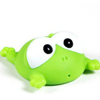 Cute Animals Floating Squeeze Sounding Baby Bath Toys Soft Rubber Kids Children Swimming pool Toy Frog Baby Shower - GREEN GREEN
