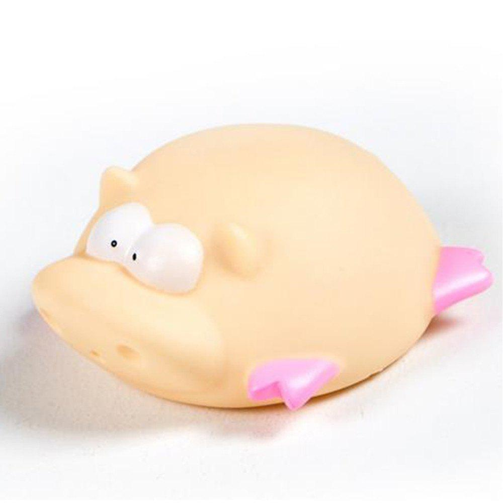 Cute Animals Floating Squeeze Sounding Baby Bath Toys Soft Rubber Kids Children Swimming pool Toy Frog Baby Shower - PINK