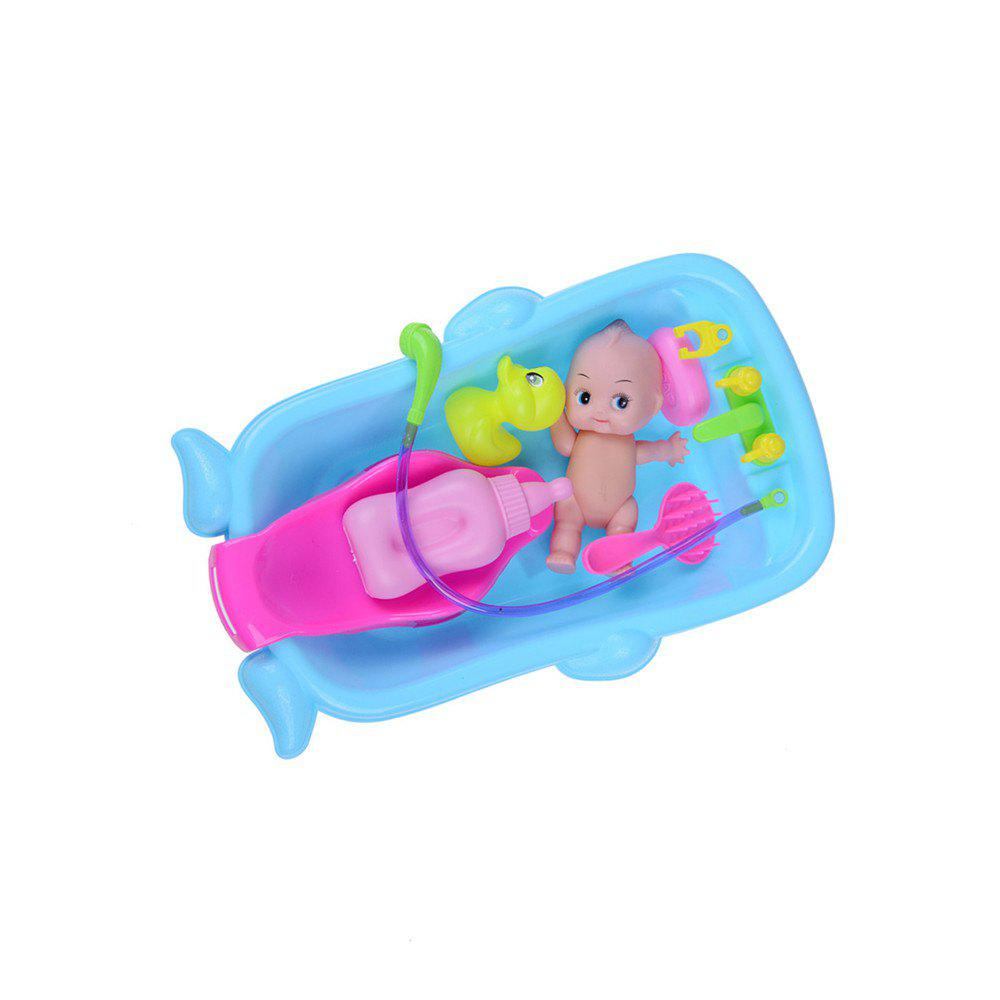 Cognitive Bathtub Floating Toy Bathroom Game Play Set Early Educational Newborn Gift Baby Bath Toys - BLUE