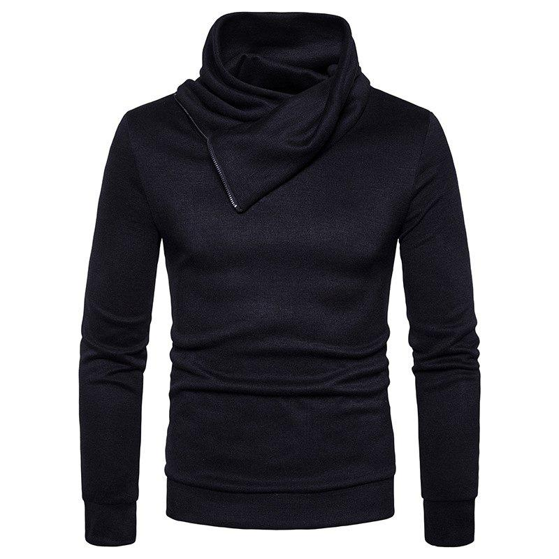 Spring New Fashion Neckline Zipper Long Sleeved Man Body Sweater MJ22 2017 spring long sleeve man
