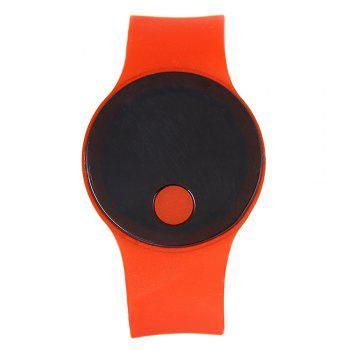 LED Wristbands Waterproof Clock Men Women Fashion Silicon Luminous Electronic Student Sport Wrist Watches Gift - RED RED