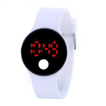 LED Wristbands Waterproof Clock Men Women Fashion Silicon Luminous Electronic Student Sport Wrist Watches Gift - WHITE
