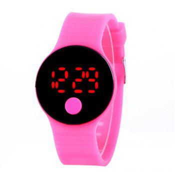LED Wristbands Waterproof Clock Men Women Fashion Silicon Luminous Electronic Student Sport Wrist Watches Gift - ROSE RED