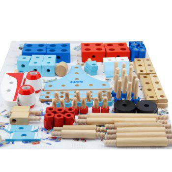 Wooden Construction Airplane Wholesale Factory Baby Toy - COLORMIX