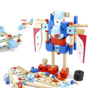 Wooden Construction Airplane Wholesale Factory Baby Toy - COLORMIX COLORMIX