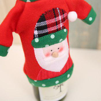 1pcs Red Wine Bottle Cover New Year's Products Christmas Party Decoration Supplies Gifts  Decor for Home - RED/GREEN RED/GREEN