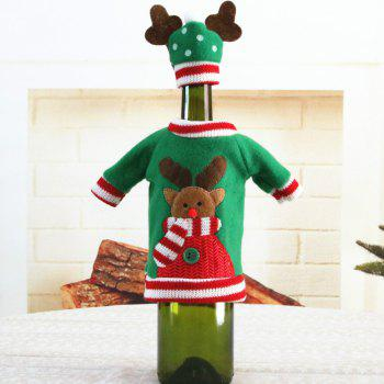 1pcs Red Wine Bottle Cover New Year's Products Christmas Party Decoration Supplies Gifts  Decor for Home - GREEN CHRISTMAS ELK
