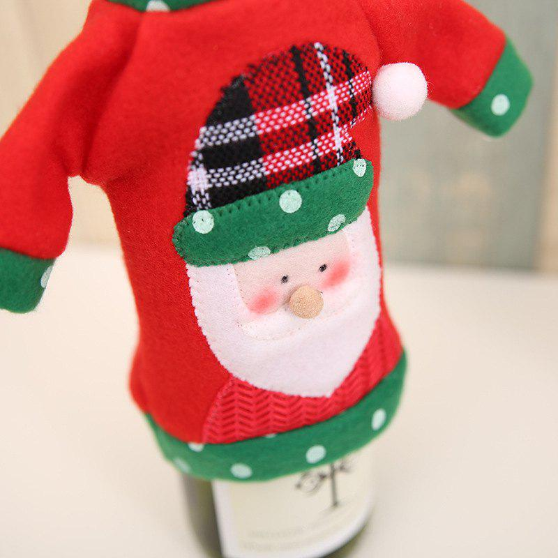 1pcs Red Wine Bottle Cover New Year's Products Christmas Party Decoration Supplies Gifts  Decor for Home - RED/GREEN SANTA