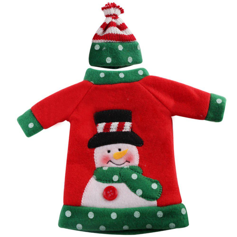 1pcs Red Wine Bottle Cover New Year's Products Christmas Party Decoration Supplies Gifts  Decor for Home - RED SNOWMAN