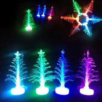 LED Colorful Fiber Optic Nightlight Christmas Tree Lamp Xmas Gift - WHITE WITH BUILT-IN BATTERY