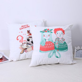 Christmas Pillows, Cute Kittens and Lovers. -  WHITE