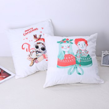 Christmas Pillows, Cute Kittens and Lovers. -  WHITE / RED