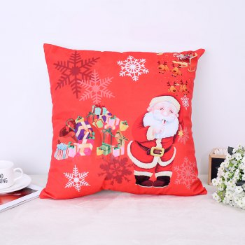 Christmas Santa Claus Stamp Pillow - FLAME FLAME