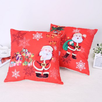 Christmas Santa Claus Stamp Pillow -  FLAME
