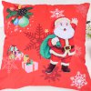 Christmas Santa Claus Stamp Pillow - RED