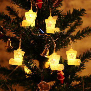 BRELONG Christmas lights string For Christmas Indoor Decorations 1m10LED 1pcs -  WARM WHITE