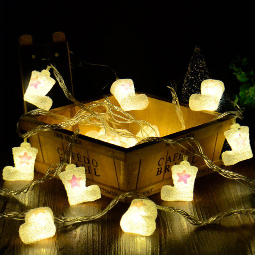 BRELONG Christmas lights string For Christmas Indoor Decorations 20LED 1pcs - WARM WHITE