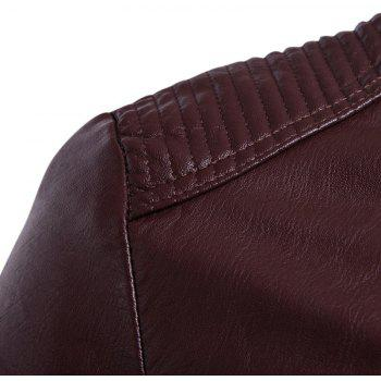 Man'S Personality Leather Jacket - WINE RED L
