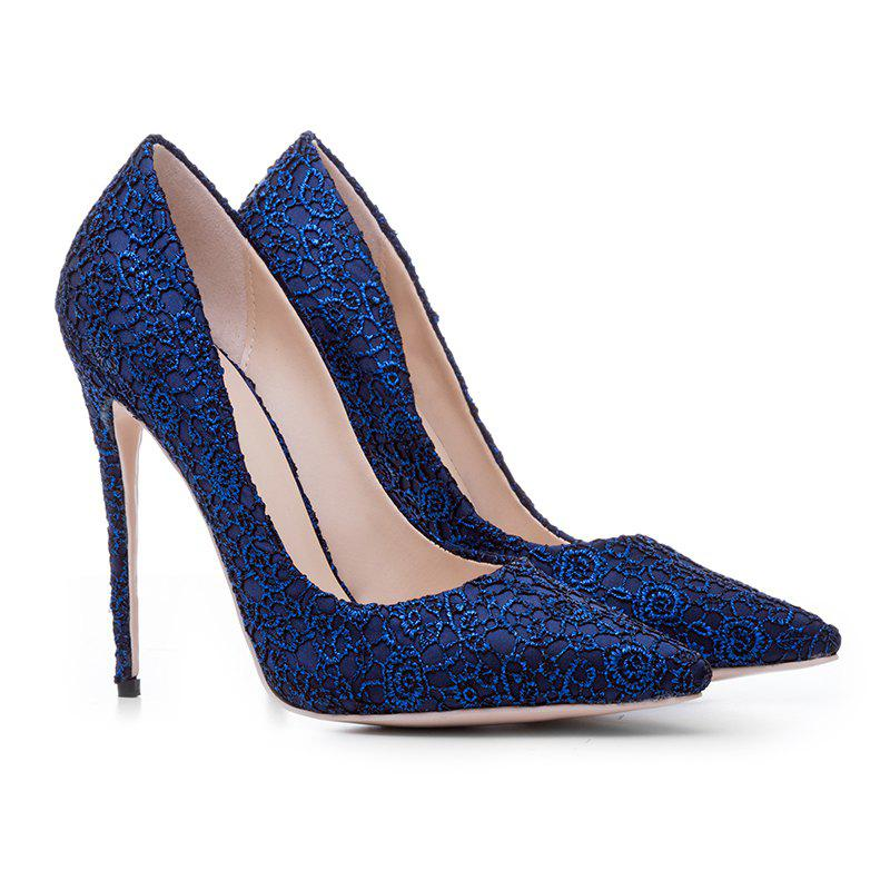 Women'S Shoes Pointed Toe Stiletto Heel Pump - BLUE 36