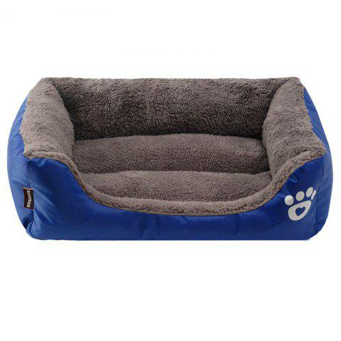 Large Dog Bed Puppy Cats Beds Multicolor Soft Waterproof Pets Sleeping Bed House Kennels Matt Pads S-XXXL Size - SAPPHIRE BLUE M