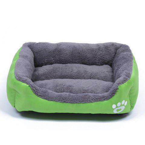 Large Dog Bed Puppy Cats Beds Multicolor Soft Waterproof Pets Sleeping Bed House Kennels Matt Pads S-XXXL Size - GREEN 2XL