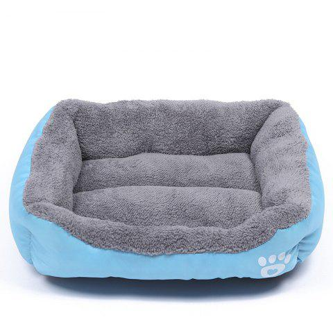 Large Dog Bed Puppy Cats Beds Multicolor Soft Waterproof Pets Sleeping Bed House Kennels Matt Pads S-XXXL Size - BLUE M