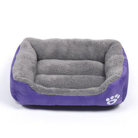 Large Dog Bed Puppy Cats Beds Multicolor Soft Waterproof Pets Sleeping Bed House Kennels Matt Pads S-XXXL Size - PURPLE L