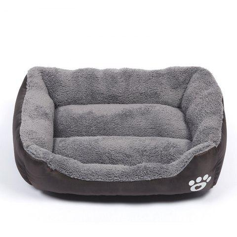 Large Dog Bed Puppy Cats Beds Multicolor Soft Waterproof Pets Sleeping Bed House Kennels Matt Pads S-XXXL Size - BROWNIE M