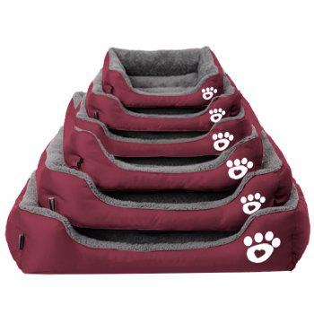 Large Dog Bed Puppy Cats Beds Multicolor Soft Waterproof Pets Sleeping Bed House Kennels Matt Pads S-XXXL Size - WINE RED L