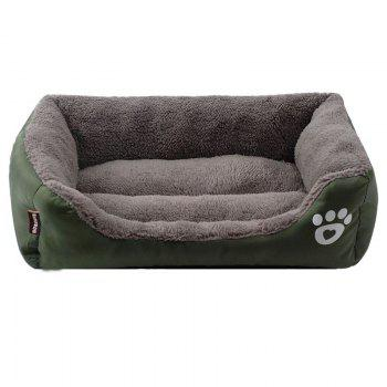 Large Dog Bed Puppy Cats Beds Multicolor Soft Waterproof Pets Sleeping Bed House Kennels Matt Pads S-XXXL Size - DARK GREEN DARK GREEN