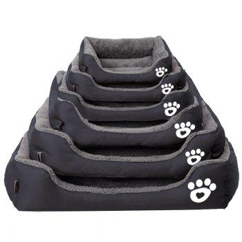 Large Dog Bed Puppy Cats Beds Multicolor Soft Waterproof Pets Sleeping Bed House Kennels Matt Pads S-XXXL Size - BLACK 2XL
