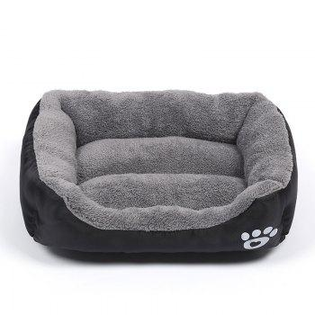 Large Dog Bed Puppy Cats Beds Multicolor Soft Waterproof Pets Sleeping Bed House Kennels Matt Pads S-XXXL Size - BLACK BLACK