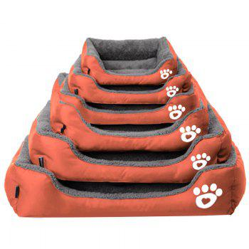 Large Dog Bed Puppy Cats Beds Multicolor Soft Waterproof Pets Sleeping Bed House Kennels Matt Pads S-XXXL Size - ORANGE 2XL