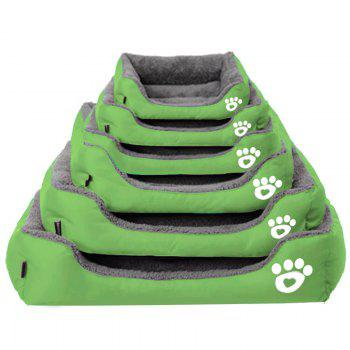 Large Dog Bed Puppy Cats Beds Multicolor Soft Waterproof Pets Sleeping Bed House Kennels Matt Pads S-XXXL Size - GREEN GREEN