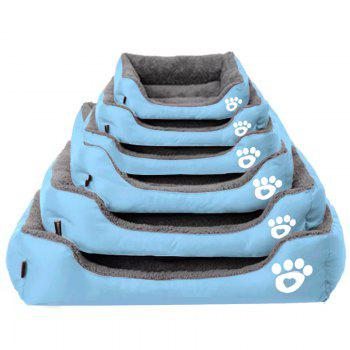 Large Dog Bed Puppy Cats Beds Multicolor Soft Waterproof Pets Sleeping Bed House Kennels Matt Pads S-XXXL Size - BLUE L