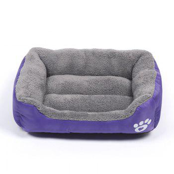 Large Dog Bed Puppy Cats Beds Multicolor Soft Waterproof Pets Sleeping Bed House Kennels Matt Pads S-XXXL Size - PURPLE PURPLE