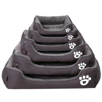Large Dog Bed Puppy Cats Beds Multicolor Soft Waterproof Pets Sleeping Bed House Kennels Matt Pads S-XXXL Size - BROWNIE S